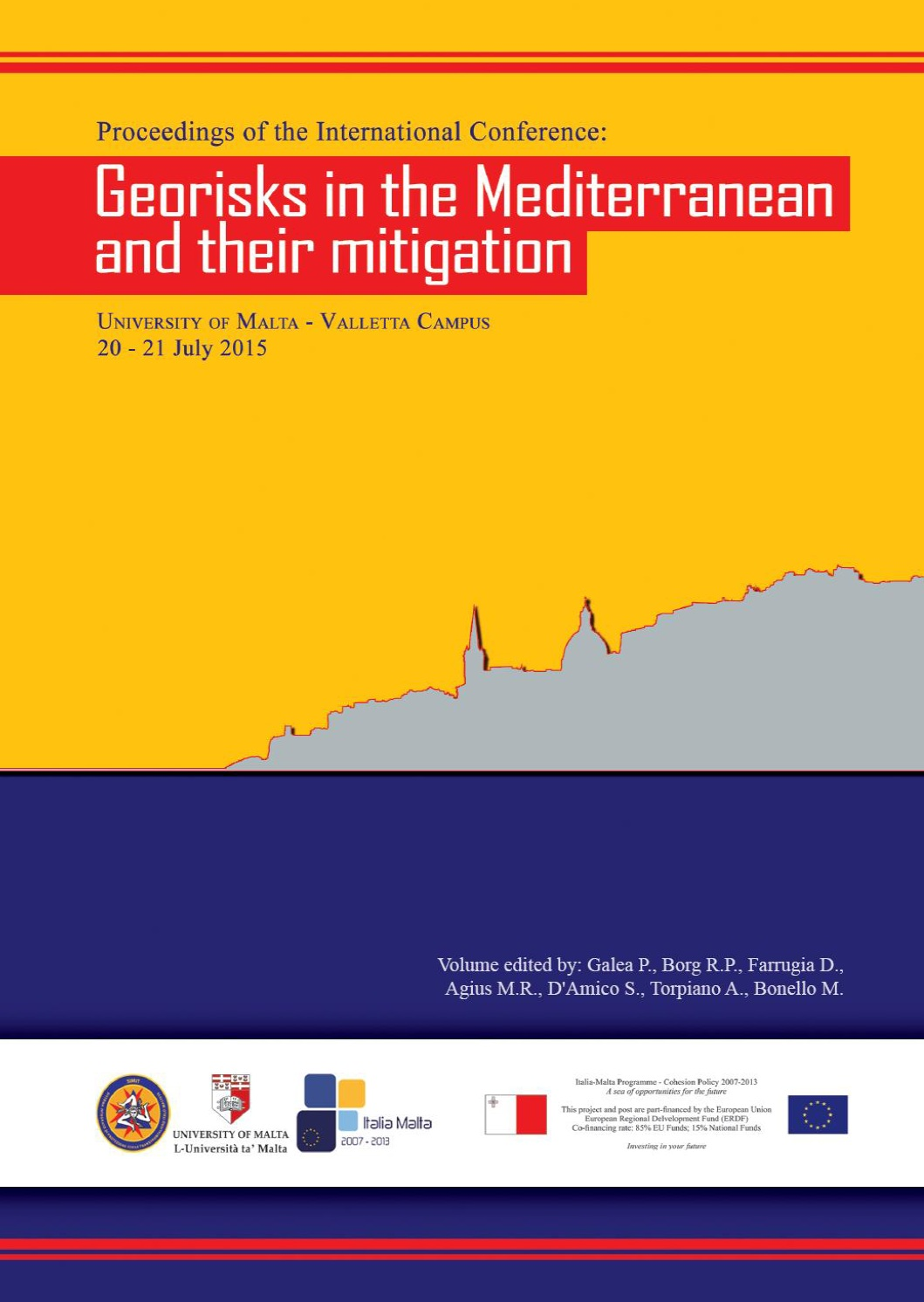 Proceedings of the International Conference: GEORISKS IN THE MEDITERRANEAN AND THEIR MITIGATION